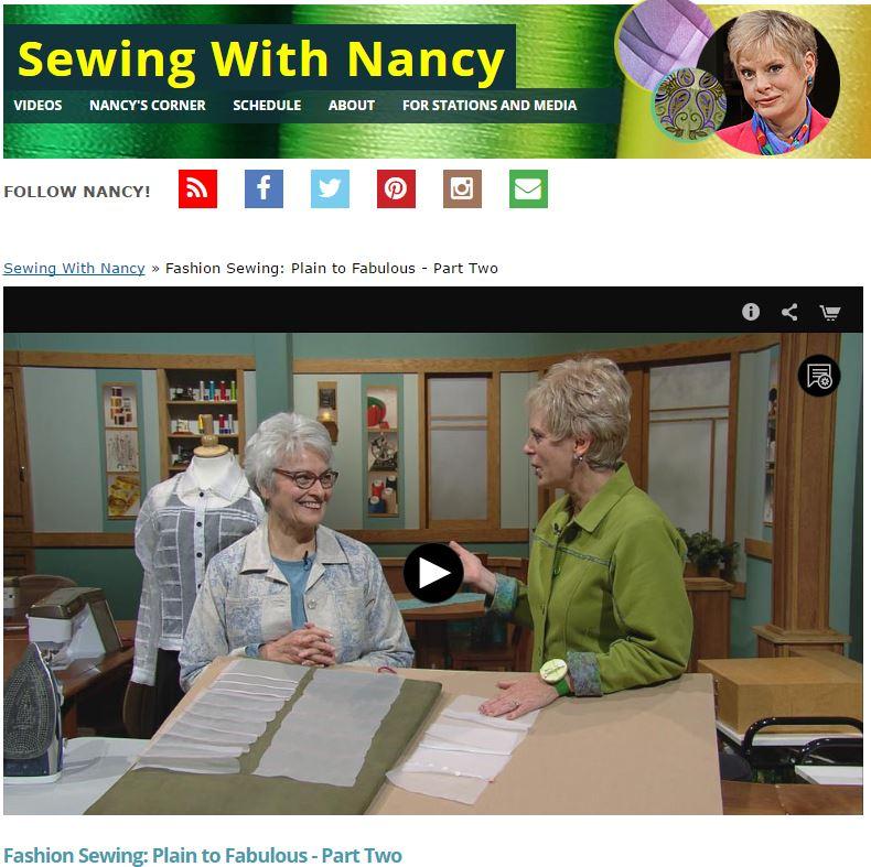 FashionSewing Part2 NancyZieman