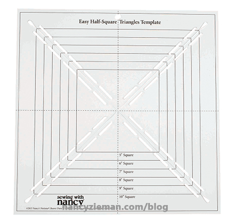 Easy Half-Square Triangles Template by Nancy's Notions