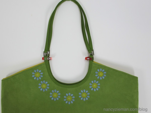 Baby Lock Love of Sewing Challenge, Nancy Zieman Embroidery tips and bagmaking techniques