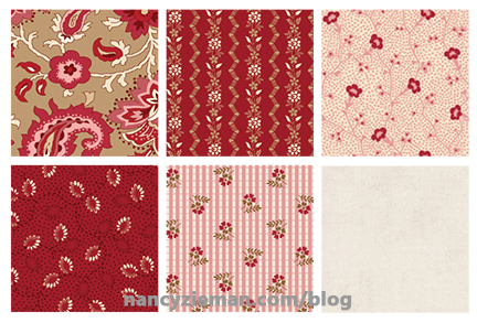 January QuiltingWithNancyZieman Fabrics