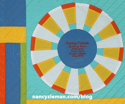 Nancy Zieman, how to Label Quilts