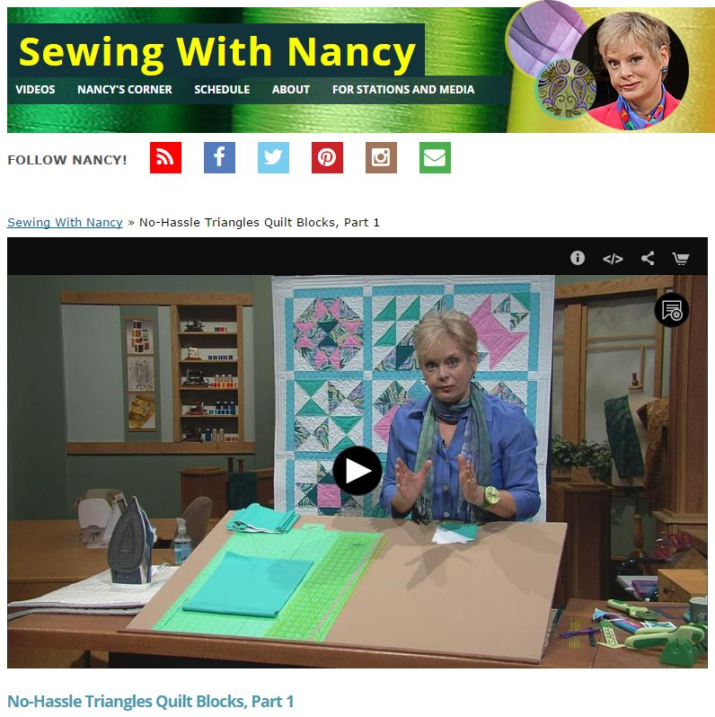 NoHassle1 2Triangles SewingWithNancy