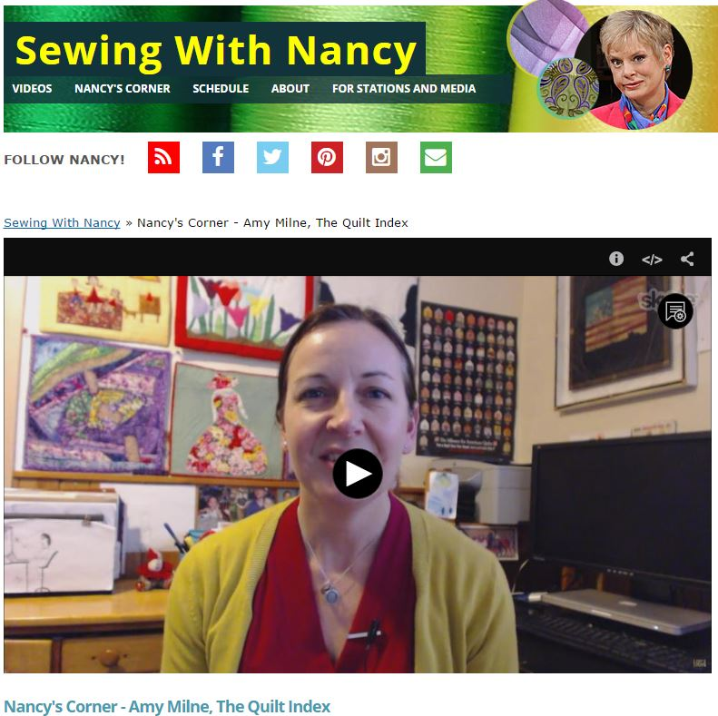Quilt Alliance NancyZieman