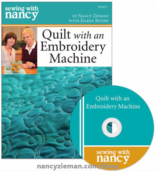 Quilt With An Embroidery Machine in 8 Easy Lessons by Eileen Roche as Seen on Sewing With Nancy with Nancy Zieman