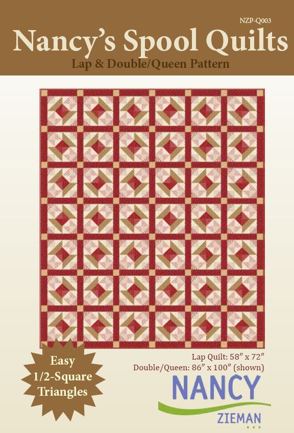 Nancy's Spool Quilts pattern | Traditional Quilt | Nancy Zieman | Sewing With Nancy | Half Square Triangles
