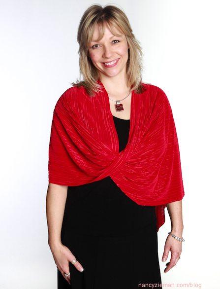 Red Wrap Nancy Zieman