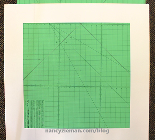 28. To easily make block off kilter cut a 20 1 2 window from newsprint or tag board.