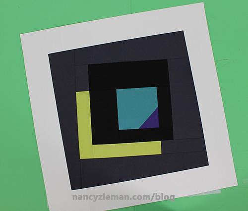 29. Place window over block determine tilt. Mark corners.