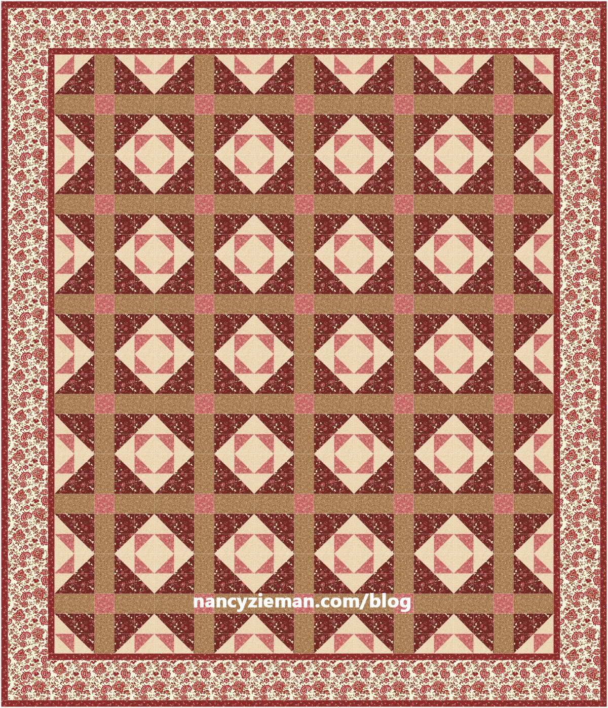 March 2017 Block of the Month by Nancy Zieman/Sewing With Nancy Duck & Duckling Block