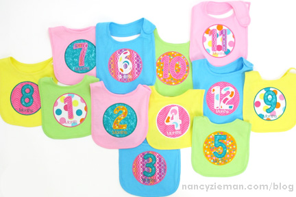 Milestone Month Birthdays Embroidery Nancy Zieman 18