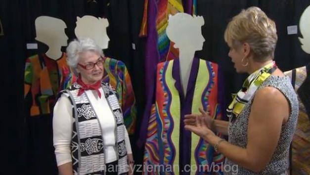 Nancy Zieman Interviews Lorraine Torrence at Quilt Expo, held each September in Madison Wisconsin