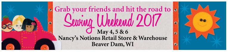 Sewing Weekend May 4-6, 2017