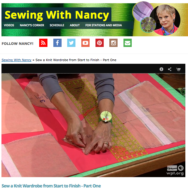 How to Sew a Knit Wardrobe from Start to Finish with Nancy Zieman