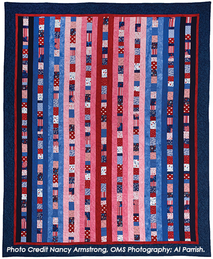 Quilt To Give Pattern by Nancy Zieman - Sewing With Nancy - Red, White, and Blue