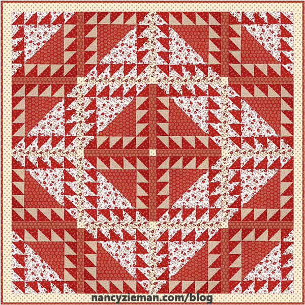 Lady of the Lake Quilt Block 2017 Block of the Month by Nancy Zieman/Sewing With Nancy|Digital Quilt