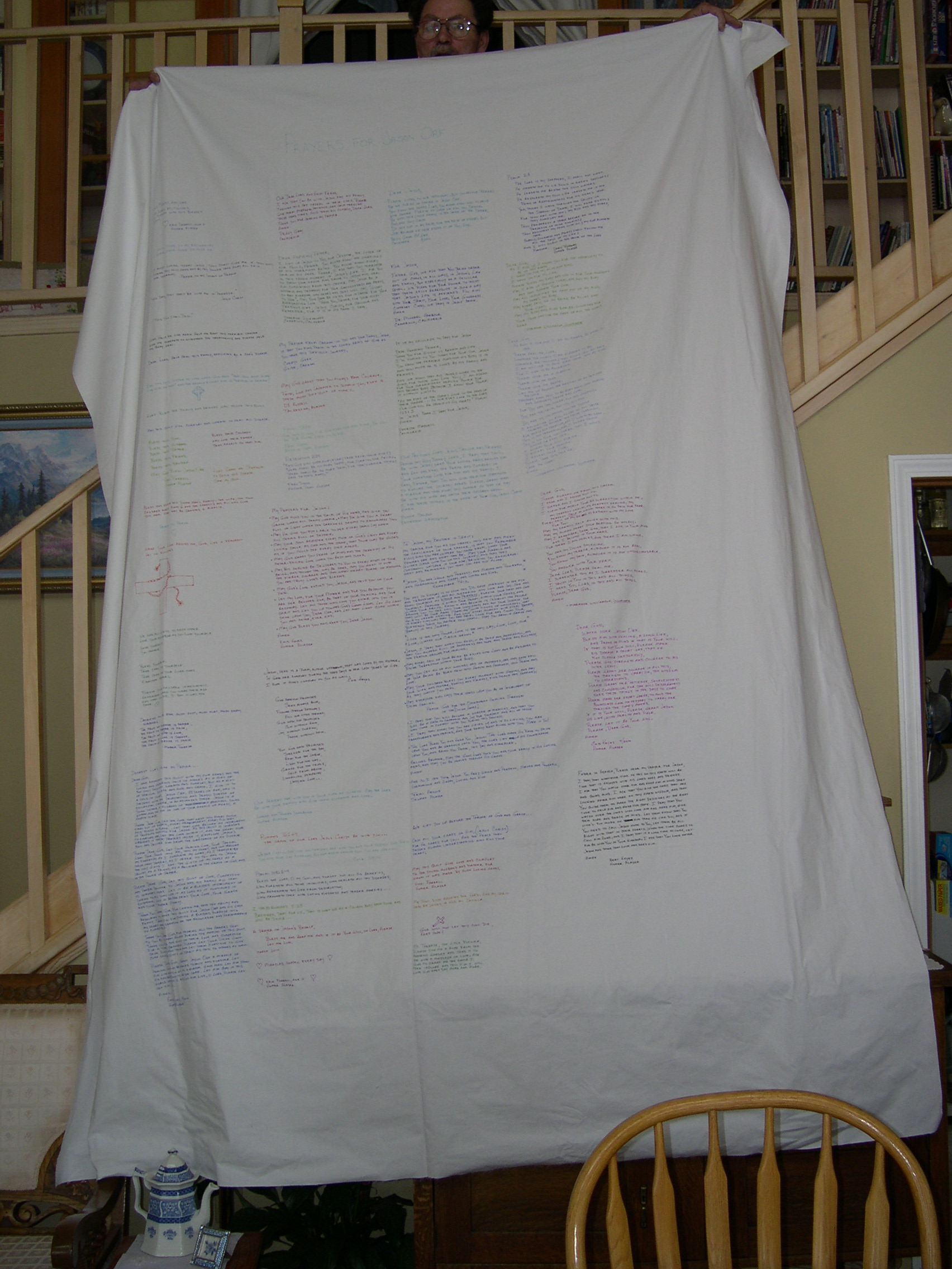 Muslin Fabric with Prayers by Enid Keyes