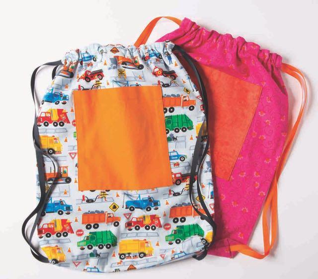 Nancy Zieman's New I Sew For Fun Program Drawstring Backpack