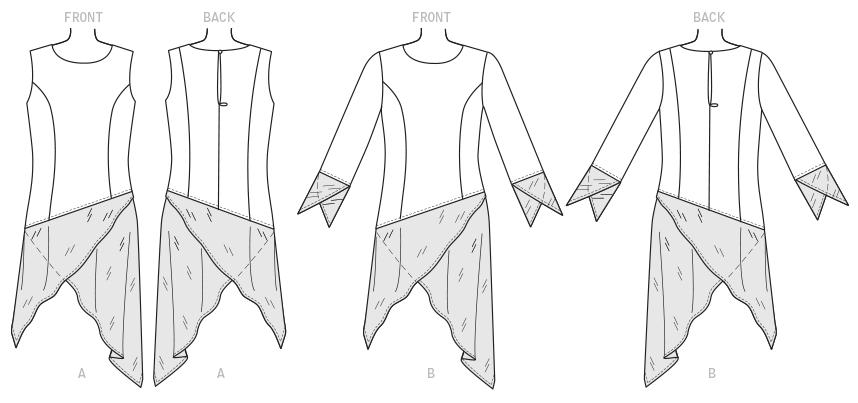 Contrasting Hem Tunic Dress | McCall Pattern Company M7689 | by Nancy Zieman | Sewing With Nancy