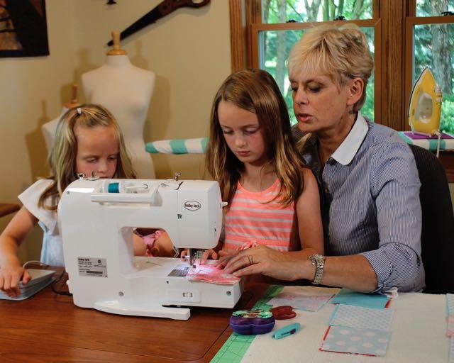 Nancy Zieman Sewing With Her Granddaughters