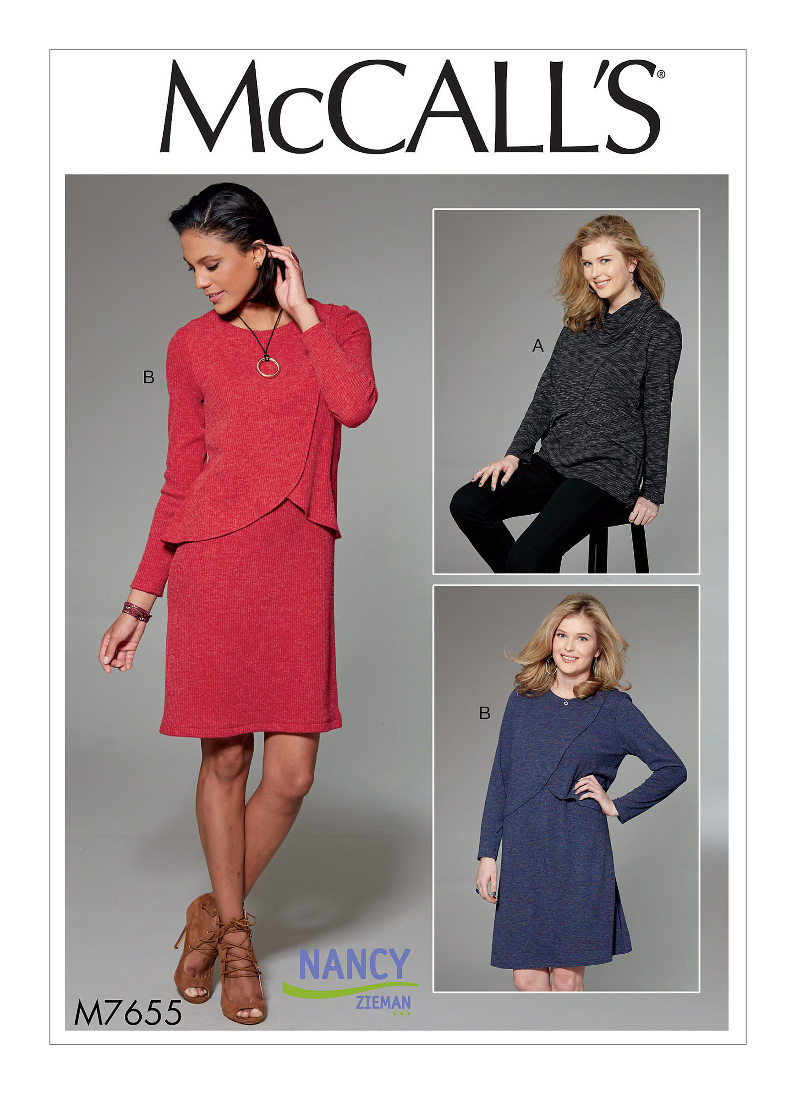 Knit Overlay Tunic Dress | McCall Pattern Company M7655 | by Nancy Zieman | Sewing With Nancy