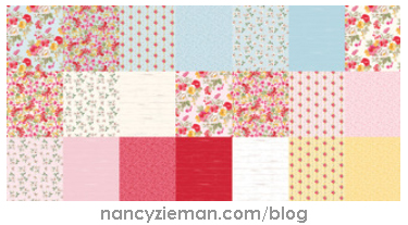 Farmhouse Florals Fabrics by Nancy Zieman for Penny Rose Fabrics a division of Riley Blake Designs