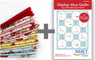 Farmhouse Florals Quilt Pattern: Shiplap Ahoy Quilts by Nancy Zieman - Sewing With Nancy