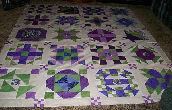 Quilts and quilt tops created using the 2017 Nancy Zieman Block of the Month | Sewing With Nancy