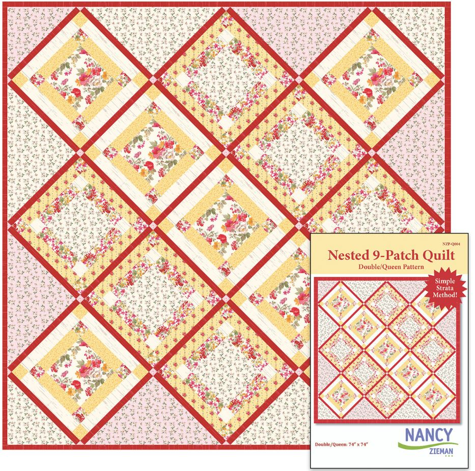 Nested9 Patch Quilt Pattern Nancy Zieman