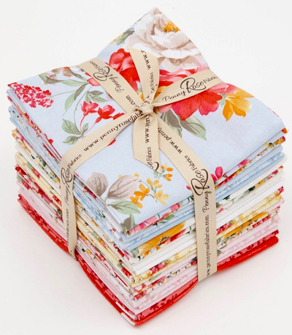 Farmhouse Florals Fat Quarter Pack by Nancy Zieman for Penny Rose by Riley Blake