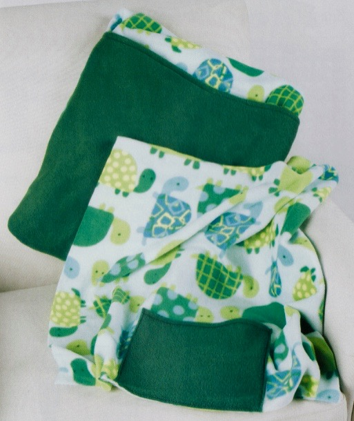 I Sew For Fun Fleece Quillow Sewing Tutorial at the Nancy Zieman Productions Blog
