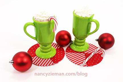 Peppermint Mug Rug Nancy Zieman First