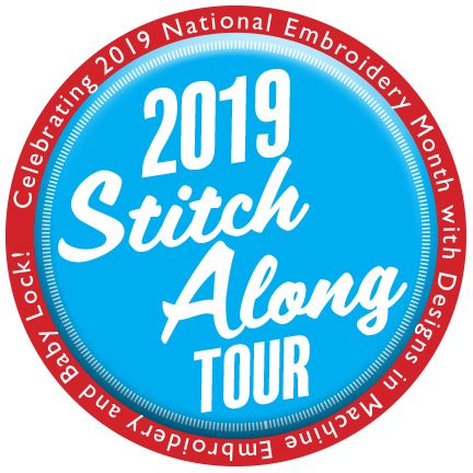 Join Team Nancy Zieman, Baby Lock and Designs in Machine Embroidery (dime) for a National Embroidery Month Stitch-Along!