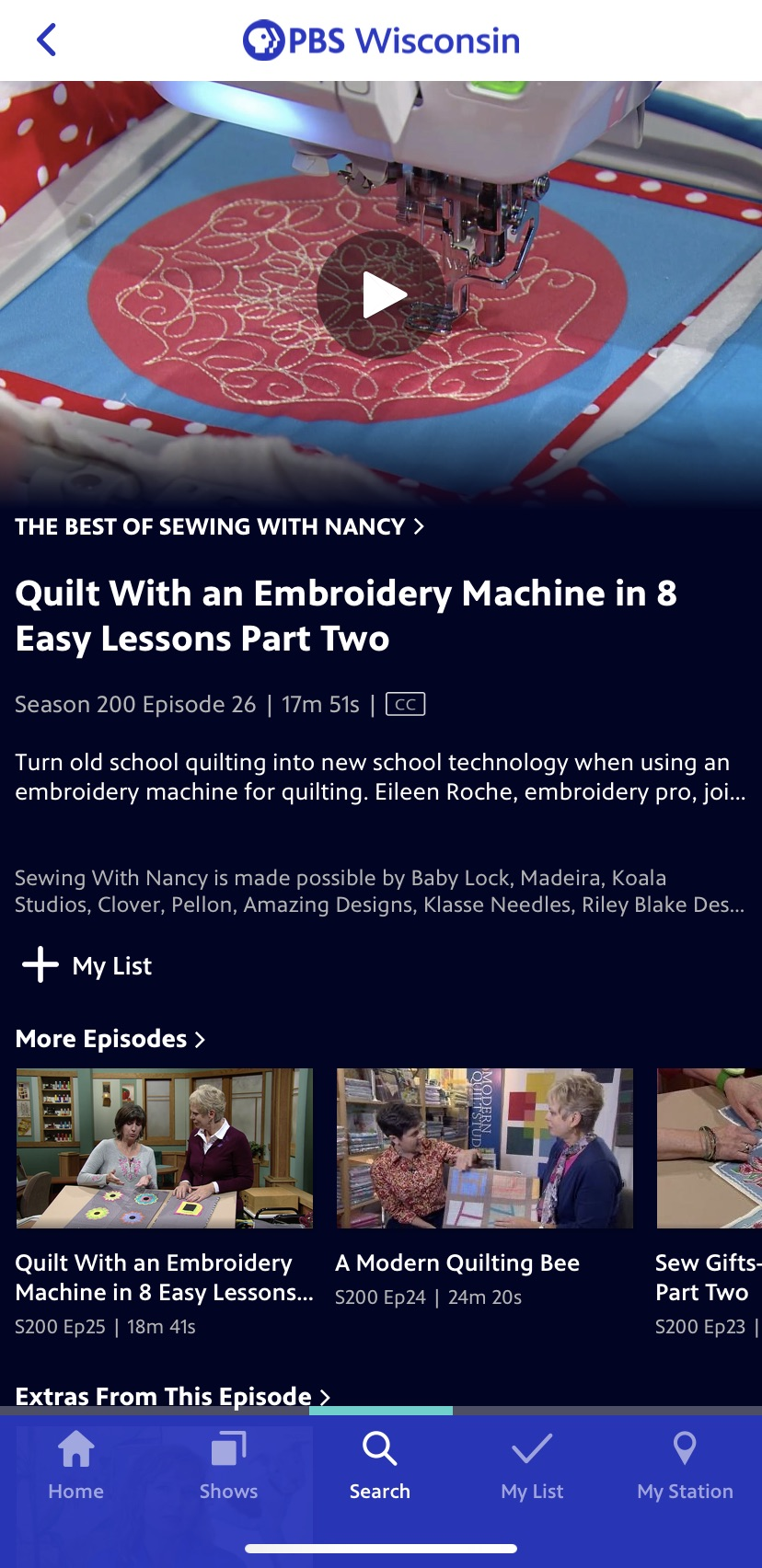Watch Sewing With Nancy on the PBS%20App