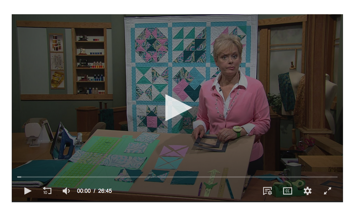 Watch Sewing With Nancy online at Nancy Zieman dot com