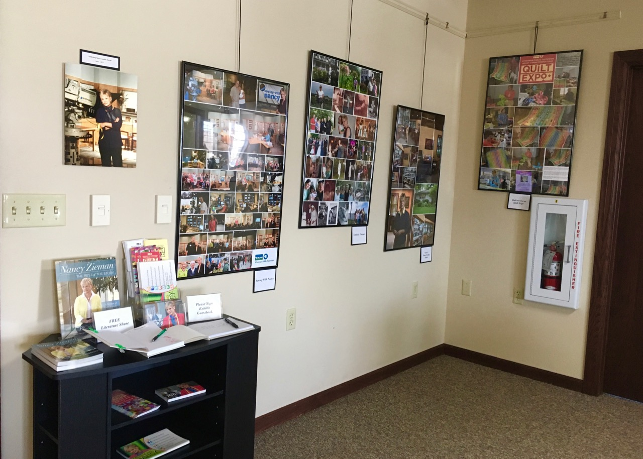 Celebrating Nancy Zieman Exhibit on display May 1 through September 30, 2019 in the Gallery of the Winneconne, WI Municipal Center