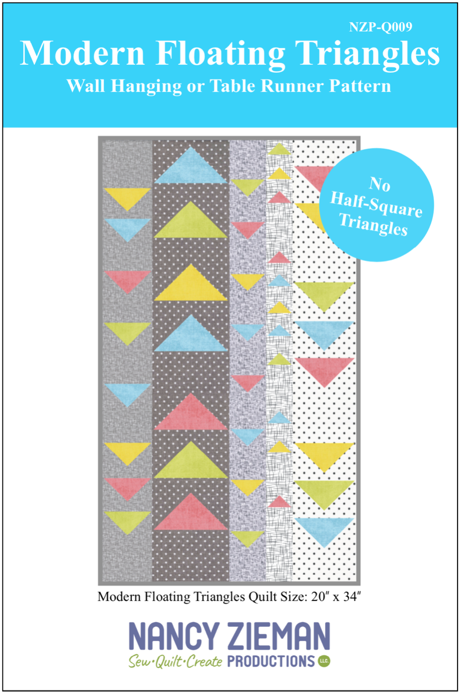 NEW! Modern Floating Triangles Wall Hanging and Table Runner Pattern by Nancy Zieman Productions