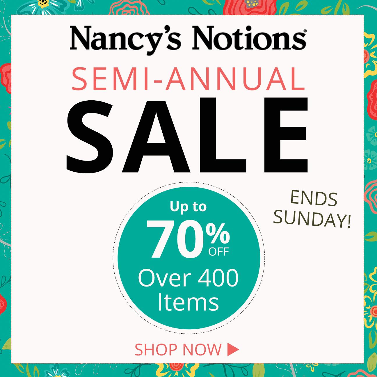 Nancy's Notions 2019 Semi-Annual Sale_NZP