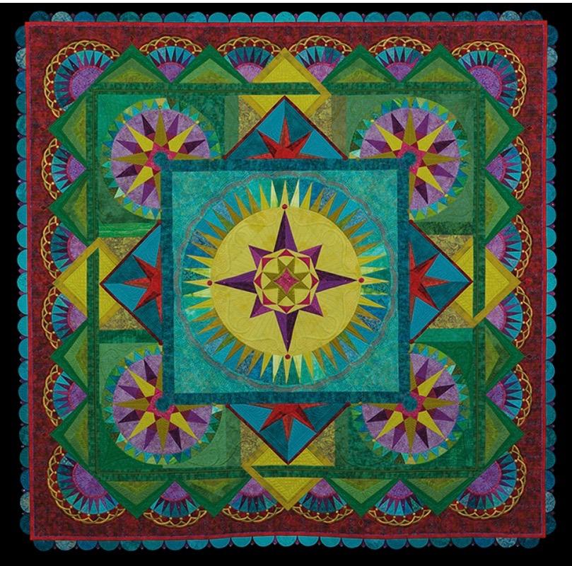 Quilt Expo BestofShow_Taking the Unmapped Road, Margaret Solomon Gunn