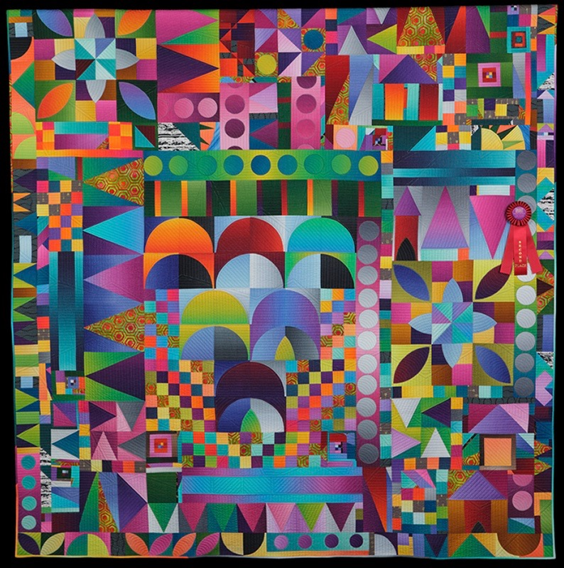 Quilt Expo: In The Garden by Kim Lapeck, quilted by Frank Palmer