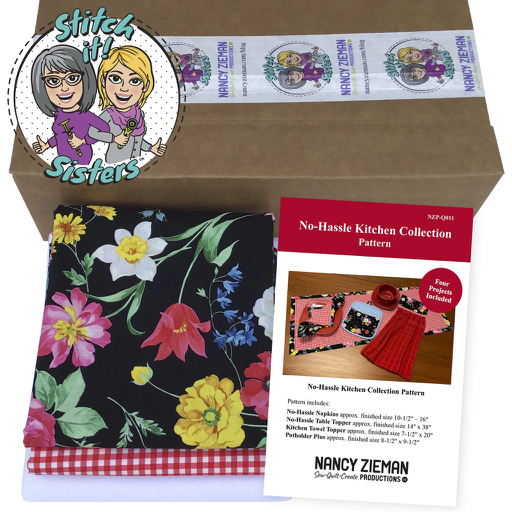 Stitch it! Sisters No-Hassle Napkins and Table Topper Bundle Box by Nancy Zieman Productions