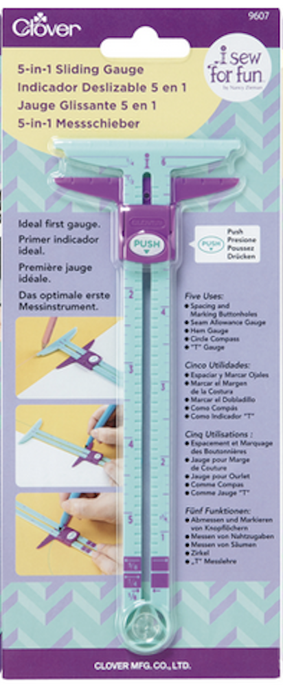 Clover's I Sew For Fun 5-in-1 Sliding Gauge available at Nancy Zieman Productions at ShopNZP.com