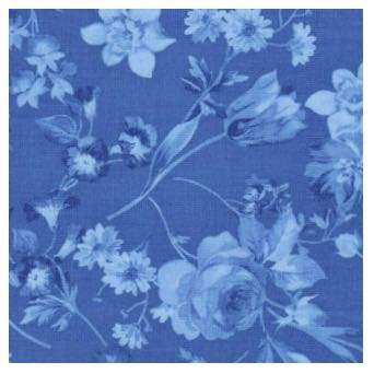 Afternoon Picnic Fabric Blue Tonal by Nancy Zieman for Riley Blake Designs