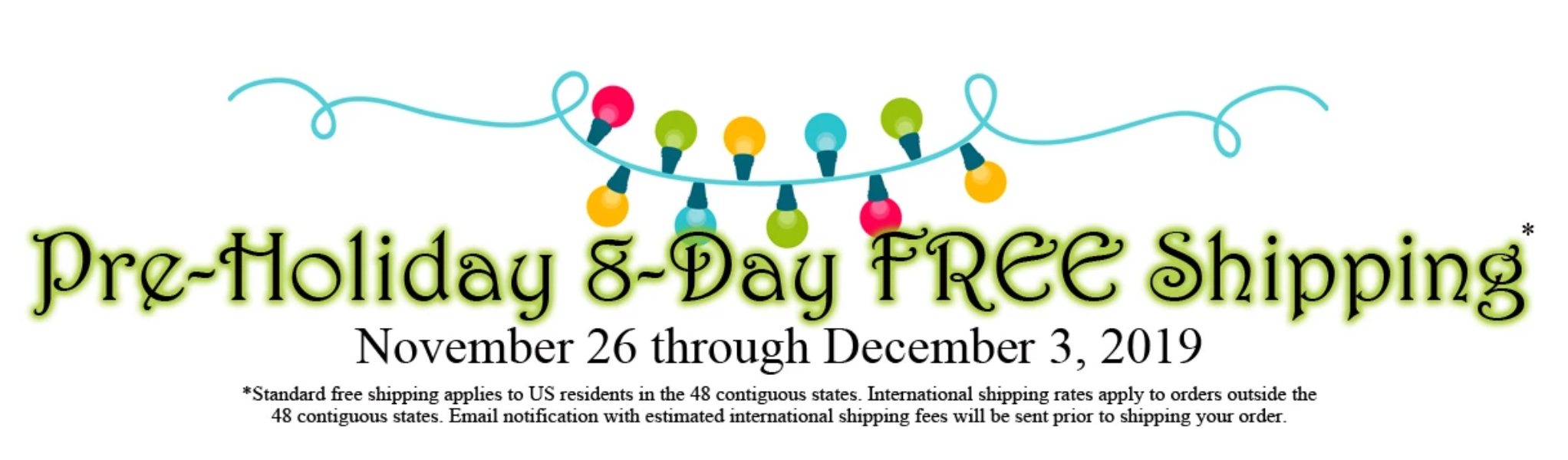 8-Day Pre Holidays Sale Nov. 26 through Dec 3, 2019 at shopnzp.com