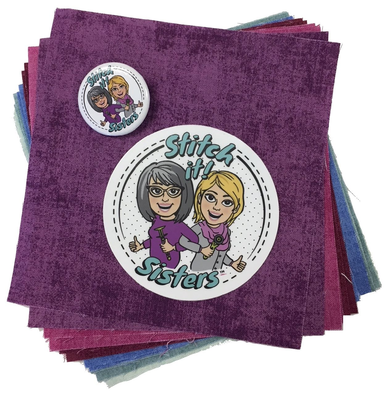 S!S 5-inch Fabric Squares Short Stack with Stitch it! Sisters Sticker and Button Giveaway at the Nancy Zieman Productions Blog