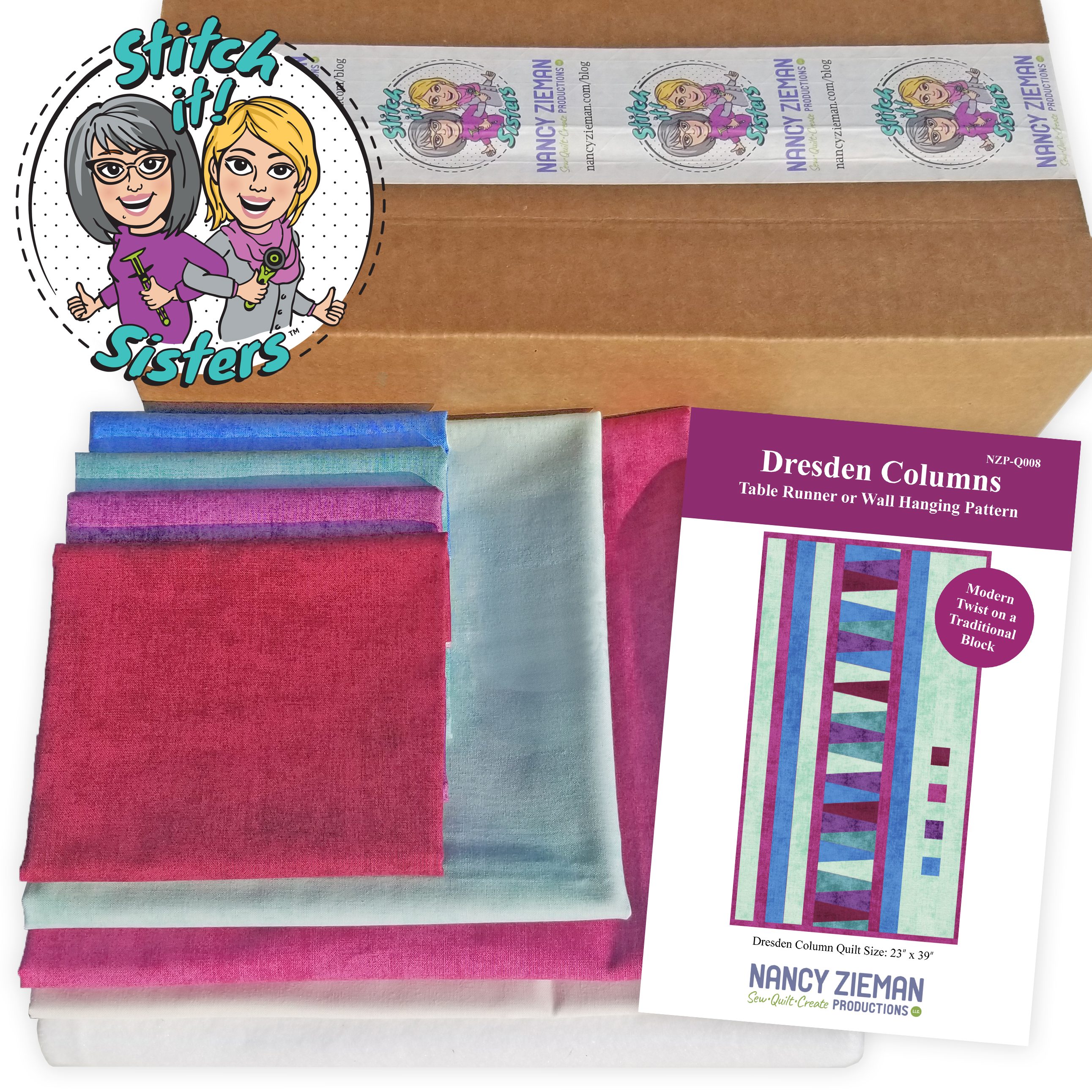 SiS Dresden Columns Table Runner Bundle Box available at ShopNZP.com