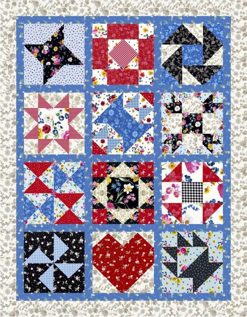 December Block of the Month: New Album Quilt Block and Finishing Techniques for the 2019 Block of the Month Summer Picnic Quilt