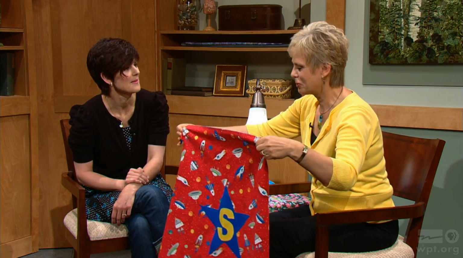Capes for Kids on the Best of Sewing With Nancy with host Nancy Zieman and guest Terry Grahl founter of Enchanted Makeovers