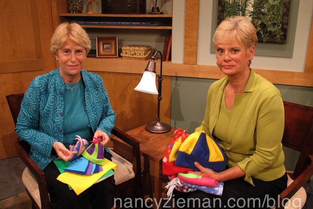 Learn how to make hats for kids with the Hat Ladies Charity as seen on Sewing With Nancy