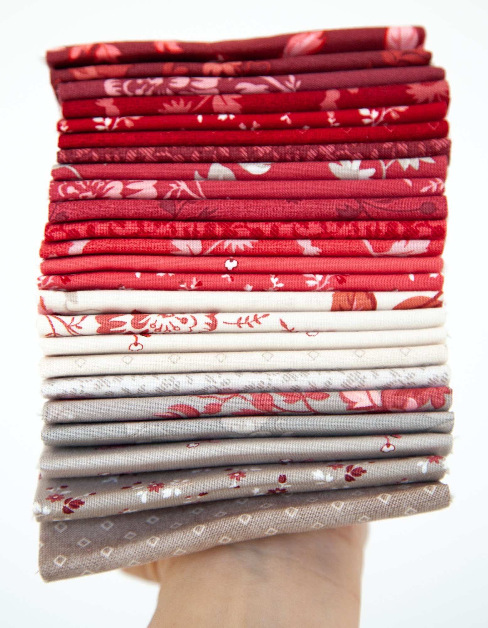 NEW! Red Elegance Fat Quarter Pack - by Nancy Zieman Productions for Riley Blake Designs