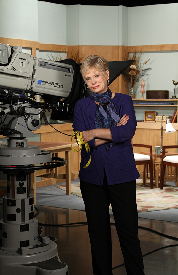 Nancy Zieman on the Set of Sewing With Nancy at Wisconsin Public Television